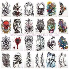 "20 sheets wholesale large 8.25"" temporary arm tattoo bulk temporary tattoos"