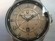 BULOVA  ADVENTURER MEN'S WATCH QUARTZ LEATHER SPORTS 96B136 ORIGINAL JAPAN