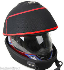 Racing Rally Black Motorcycle Bike Red Helmet Bag Headcase Race Lid Carry Case