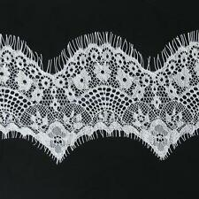 3 Yards White Guipure Eyelash Lace Galloon Trim DIY Sewing Applique 10cm Wide