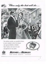 PUBLICITE ADVERTISING  1958   BENSON & HEDGES  cigarettes