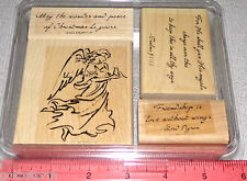 Stampin Up On Angel Wings Stamp Set Angel with Wings Religious Inspirational