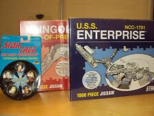 2 X HAYNES STAR TREK 1000 PCE JIGSAWS ENTERPRISE KLINGON + 2 PK NEXT GEN MARBLES