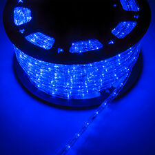 150FT 2 Wire LED Rope Light 110V Home Party Christmas Decorative In/Outdoor Blue