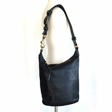 Coach Bleeker Large Black Leather Duffle 11423 Great Condition