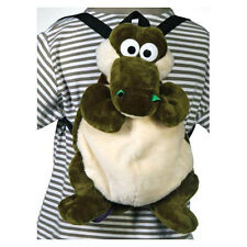 "Toddler Kids Plush ZOO Animal Alligator Crocodile Travel Buddy 15"" Backpack Bag"