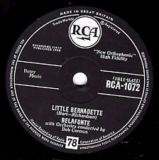 "MINT !! CALYPSO 78 HARRY BELAFONTE "" LITTLE BERNADETTE / DANNY BOY "" UK RCA 1072"
