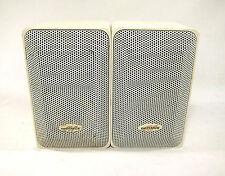Optimus Pro 7AV Bookshelf Speakers White 40-2059 80 Watts 8 Ohm