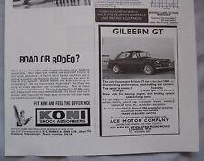 1965 Gilbern GT Original advert No.1