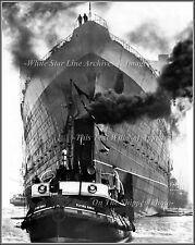 Photo: The Mighty RMS Queen Elizabeth & The Flying Eagle: River Clyde, 1938