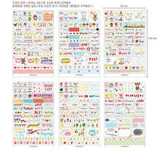 6 Sheet DIY korea deck Book Wall paper Stickers Diary Scrapbook Decoration Case