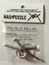 Nail Puzzle (Chrome Plated) by Americana  - Trick - Magic Tricks Tons of fun