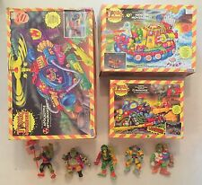 Toxic Crusaders LOT: Attackcopter, SmogCycle, Hovercraft-SEALED & LOOSE+Figures!
