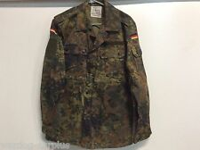GERMAN ARMY FLECKTARN CAMO BDU UNIFORM SHIRT TOP BLOUSE MILITARY SZ. MED 37.5""