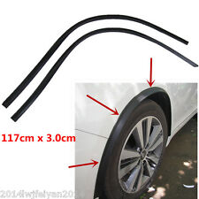 2Pcs Car Fender Flare Wheel Eyebrow Protector Carbon Fiber Wheel Arch Trim Strip
