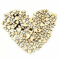 100pcs/Pack 4 Size Mixed Vintage Wooden Love Heart Wedding Table Scatter Decor