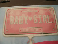 Mum to Be Baby Girl Shower Birth Foil Supershape Lge Balloon Registration Plate