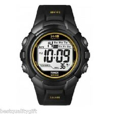 NEW TIMEX BLACK RUBBER DIGITAL 24 HR CHRONOGRAPH,INDIGLO WATCH T5K442