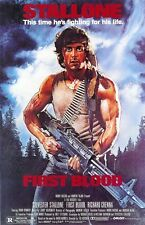 "First Blood movie poster - Rambo  : 11"" x 17"" Sylvester Stallone poster"