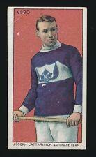 1910 C59 Imperial Tobacco LACROSSE SERIES -#90 JOE CATTARINICH *Hockey HOF*