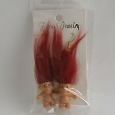 troll doll earrings hair trolls small dolls troll jewelry tiny hook ear rings 2