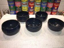 (5) Mole Hill Signal Mt., TN studio pottery Ceramic chili soup ice Cream bowls
