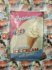 Creemee American Ice Cream - Tin Metal Wall Sign