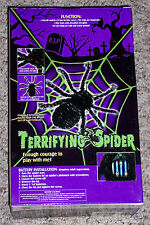 Terrifing spider,electronic movement,sound,scary,haunted house,Halloween deco