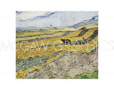 "VAN GOGH VINCENT - ENCLOSED FIELD WITH PLOUGHMAN -ART PRINT POSTER 11"" X 14""(444"
