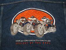 Warner Bros Harley Davidson Taz Blue Denim Jean Trucker Jacket size XXL – Nice