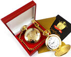 ROYAL ARMY MEDICAL CORPS RAMC Gold Hunter Military POCKET WATCH in Luxury Case