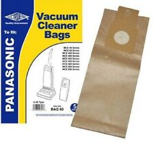 Fits Panasonic U-2E U20E U20AB Upright Vacuum Cleaner Hoover Paper Dust Bags 5PK