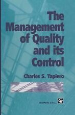The Management of Quality and Its Control by Charles Tapiero (2013, Paperback)