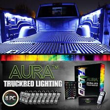 OPT7 8pc LED Truck Bed Lighting Kit - 16 Color White Pickup Work Ambient Accent