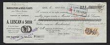 """DAX (40) USINE de SIEGES PLIANTS & de TAMISERIE """"A. LUSCAN & Soeurs"""" en 1934"""