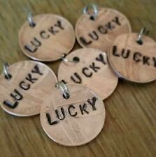 Lucky penny charm. Key charm. Bracelet/necklace charm. Hand crafted