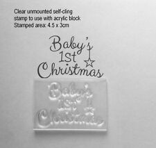 Baby's 1st Christmas, Clear Unmounted Stamp for Handmade Cards & Tags