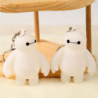 YW New Movie White Big Hero 6 Baymax White 6cm Plastic Keychain Ring WAB