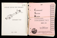 1975 Apollo-Soyuz working manuals & documents group Lot 897