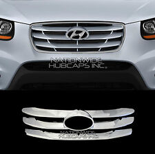 fit 10-12 Hyundai Sante Fe CHROME Snap On Grille Overlay Front Insert Trim Cover