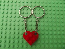 Brand New Lego Red Heart Keyring Key Ring Key Chain for Friends Friendship Love
