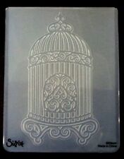 Sizzix Large Embossing Folder BIRD CAGE fits Cuttlebug & Wizard