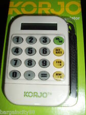 Korjo Worldwide Travel Foreign Currency World Money Converter & Calculator New