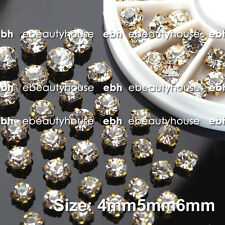 3 Sizes 3D Nail Art Decoration Crystal Silver Round Rhinestone + Wheel #EB-100