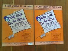 AS THE GIRLS GO Bobby Clark SHEET MUSIC Broadway 1948 Takes A Woman To Make Man