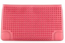 Authentic CHRISTIAN LOUBOUTIN spikes leather LOUBIPOSH bag PINK