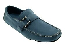 Salvatore Ferragamo Loafers Cabo 2 Suede Drivers Moccasin Blue Size 10.5 New