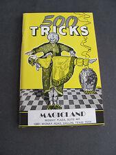 500 Tricks Catalog Magicland Texas 1972 with Pricelist