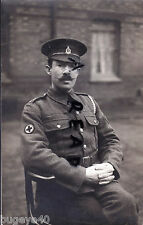 WW1 soldier Pte Fred Lovett RAMC TF Royal Army Medical Corps