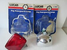LUCAS REARGUARD FOG LIGHT LAMP NEW L 921 RED LENS CHROME BODY